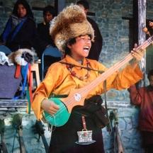 Bhotiya Boy Singing and Playing in Dolpa