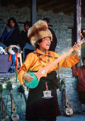 Bhotiya Boy Singing and Playing in Dolpa