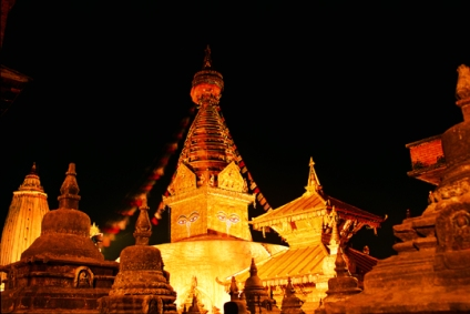 Swoyambhu at Night